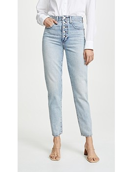 X We Wore What Danielle High Rise Straight Jeans by Joe's Jeans