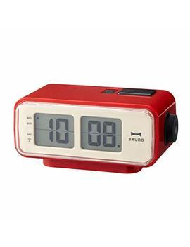 Retro Digital Flip Desk Alarm Clock Red by Idea International