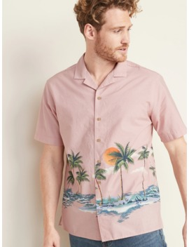 Regular Fit Printed Getaway Shirt For Men by Old Navy