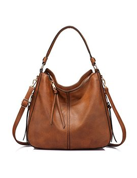 Handbags For Women Large Designer Ladies Hobo Bag Bucket Purse Faux Leather by Realer