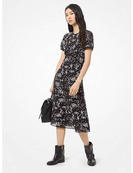 floral-sequined-georgette-dress by michael-michael-kors
