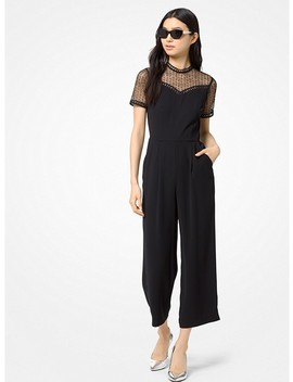 Lace Panel Cady Jumpsuit by Michael Michael Kors