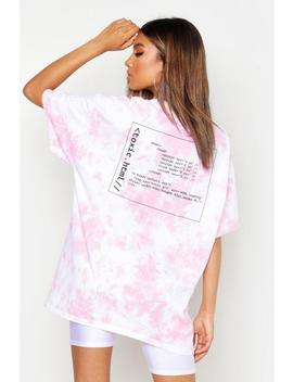 Tie Dye Graphic Oversized T Shirt by Boohoo