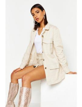 Canvas Utility Jacket by Boohoo