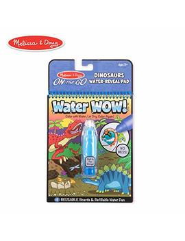 Melissa & Doug On The Go Water Wow! Dinosaurs Reusable Water Reveal Activity Pad, Chunky Size Water Pen by Melissa & Doug