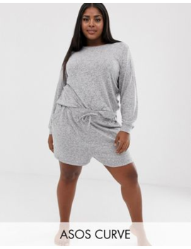Asos Design Curve Mix &Amp; Match Lounge Super Soft Brushed Short by Asos Design
