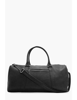 Black Smart Pu Holdall Bag by Boohoo