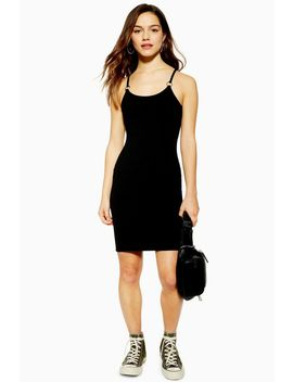 Petite Textured Ring Mini Dress by Topshop
