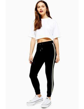 Petite Side Stripe Joggers by Topshop