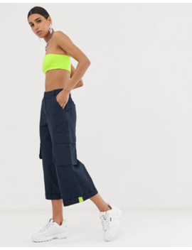 Asos Design Utility Culotte With Neon Tab Detail by Asos Design