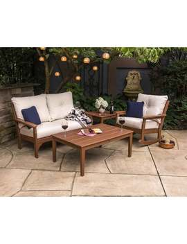 Polywood Vineyard Outdoor Deep Seating Settee by Polywood