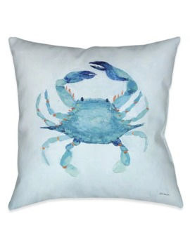 Laural Home Aqua Crab Indoor/Outdoor Decorative Pillow by Laural Home