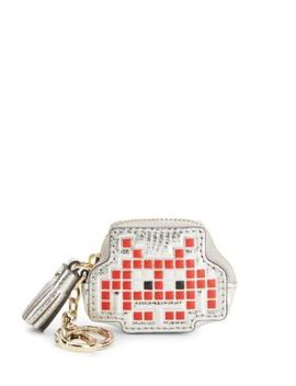 Space Invader Leather Coin Purse by Anya Hindmarch