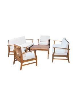 Perla Outdoor Acacia Wood 9 by Christopher Knight Home