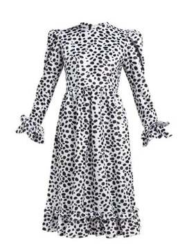 Dalmation Print Textured Velvet Dress by Batsheva