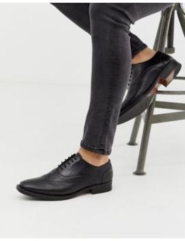 Zapatos Oxford De Cuero En Negro De Redfoot by Asos
