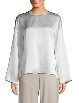 Silk Kimono Sleeve Blouse by Vince