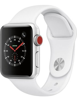Apple Watch Series 3 (Gps + Cellular) 38mm Silver Aluminum Case With White Sport Band   Silver Aluminum by Apple