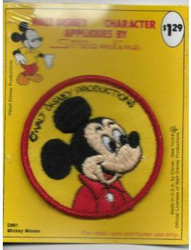 Vintage Walt Disney Streamline Applique Patch Mickey Mouse D961 New Round Sew On by Streamline