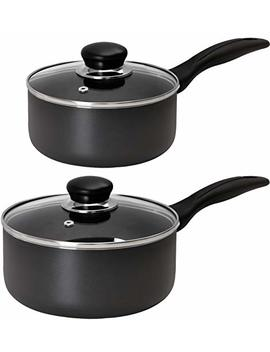Utopia Kitchen Nonstick Saucepan Set   1 Quart And 2 Quart   Glass Lid   Multipurpose Use For Home Kitchen Or Restaurant by Utopia Kitchen