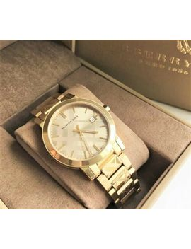 Burberry Men's Watch Bu9038 Yellow Gold Stainless Strap Authentic From Japan by Burberry