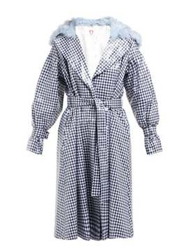 Gingham Pvc Trench Coat by Shrimps