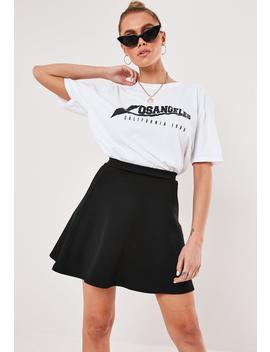 Black Scuba Flippy Mini Skirt by Missguided