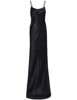 Open Back Crinkled Satin Gown by Ann Demeulemeester