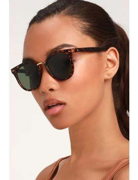 Cruising Matte Tortoise Sunglasses by Lulus