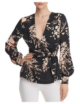 Arin Floral Wrap Top by Joie