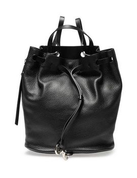 Smooth And Textured Leather Backpack by Rebecca Minkoff