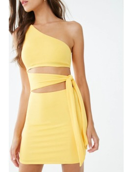 Knotted Ribbed Cutout Mini Dress by Forever 21