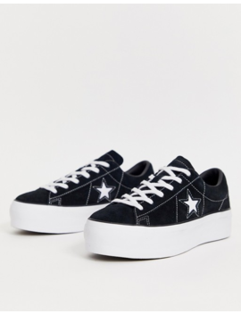 Converse One Star Black Platform Sneakers by Converse