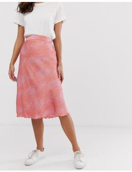 Vero Moda Smudge Print Midi Skirt by Vero Moda