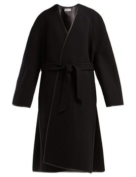Belted Wool Cocoon Coat by Balenciaga