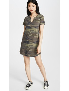 Split Neck Camo Dress by Z Supply