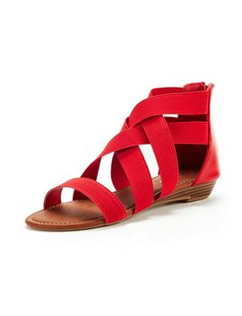 Dream Pairs Women's Elastica8 Summer Fashion Design Ankle Low Wedges Sandals by Dream Pairs