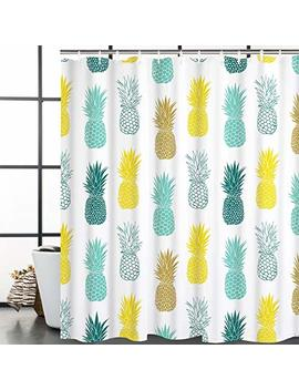 Bleum Cade Bathroom Shower Curtain Blue Yellow Pineapple Shower Curtains Durable Waterproof Shower Room Curtain Home Bath Curtain Sets With 12 Hooks by Bleum Cade