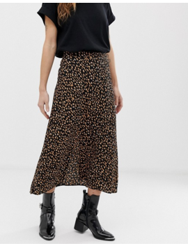 New Look Petite Polka Dot Midi Skirt In Black by New Look Petite