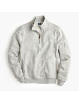 Garment Dyed French Terry Half Zip Hoodie by J.Crew
