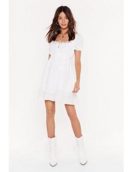Mesh Assured Square Neck Mini Dress by Nasty Gal