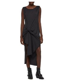 Riviera Devo Gathered Jersey Dress by Allsaints