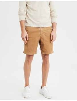 "Ae Ne(X)T Level Slim 8"" Khaki Short by American Eagle Outfitters"