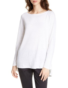 Drop Tail Hem Organic Linen Tunic by Eileen Fisher