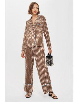 Geometric Print Pyjama Trousers by Topshop