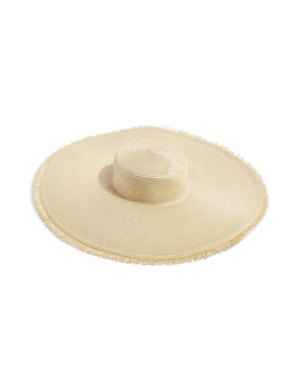 Frayed Oversize Straw Hat by Topshop