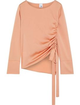 Andrea Ruched Hammered Satin Blouse by Iris & Ink