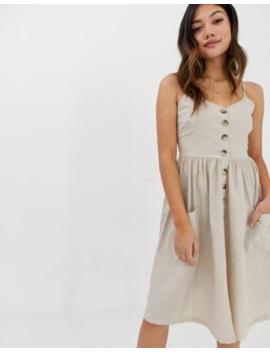 Brave Soul Leah Button Through Midi Dress by Midi Dress