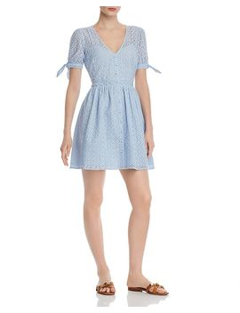 Eyelet Fit And Flare Dress   100% Exclusive by Aqua