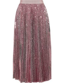 Plissé Sequined Tulle Midi Skirt by Msgm